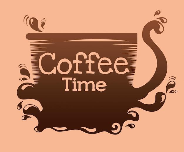 Deliciosa taza de café vector gratuito