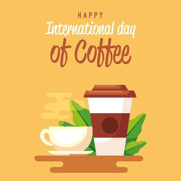 Delicioso café para llevar taza de café. vector gratuito