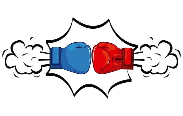Deporte de boxeo Vector Premium