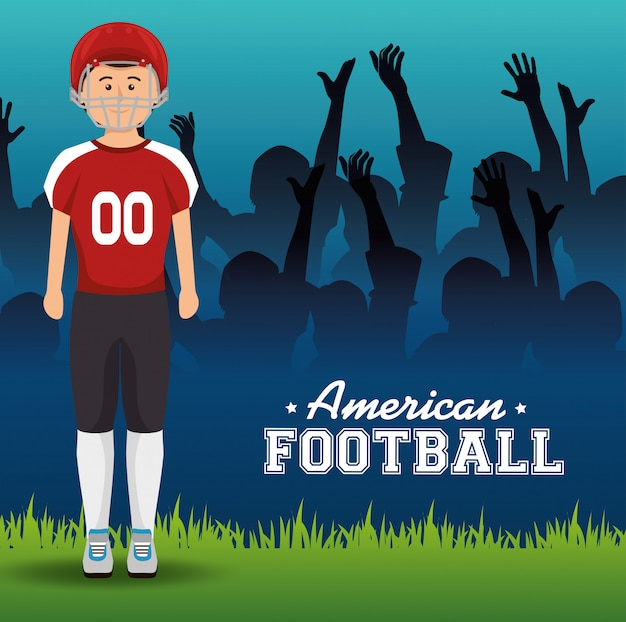 Deporte de futbol americano vector gratuito