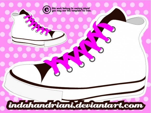 zapatillas converse vector