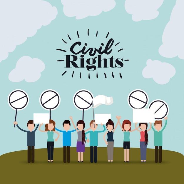 Derechos civiles vector gratuito