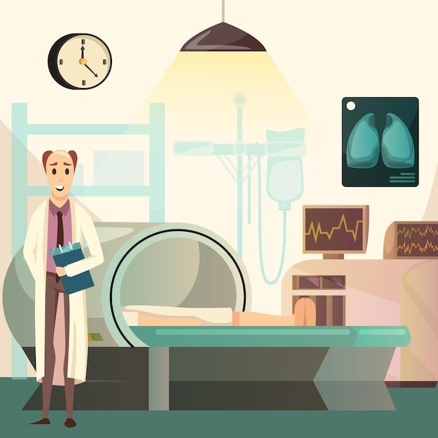 Derrota el fondo ortogonal de resonancia magnética del cáncer vector gratuito