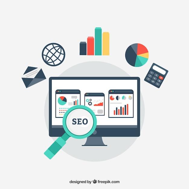 Desarrollo de Sitios Web estadística Vector Gratis