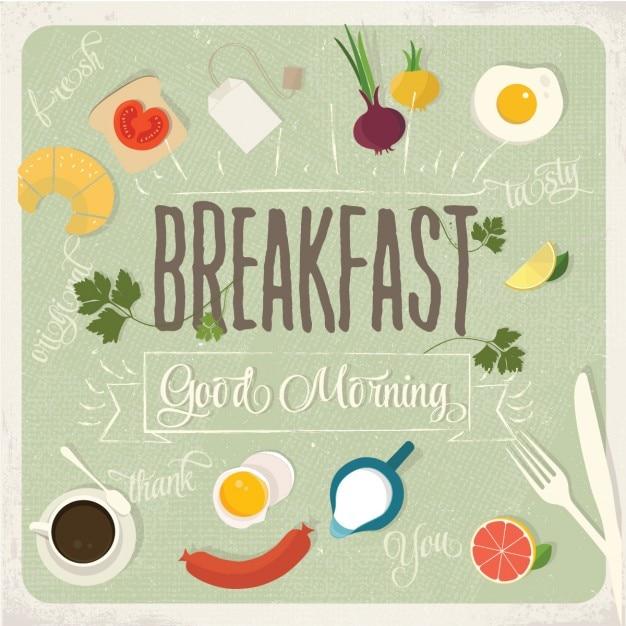 Desayuno buenos días vector gratuito