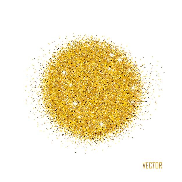 Destellos dorados sobre blanco Vector Premium
