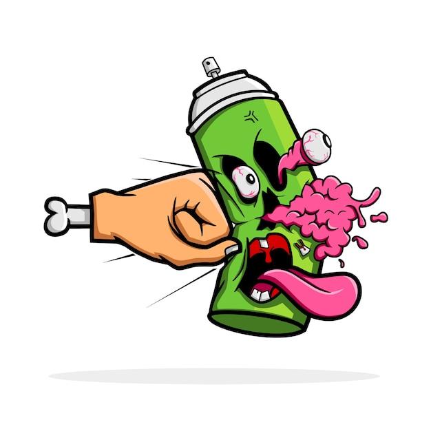 Destruye la pintura en aerosol Vector Premium