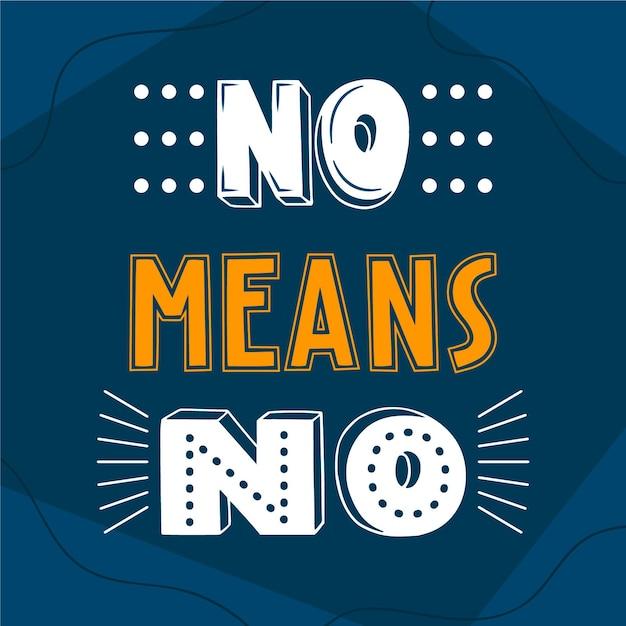 Detener el abuso no significa que no haya letras vector gratuito