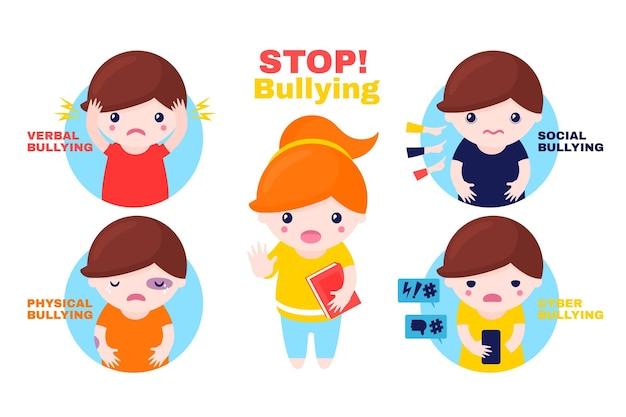 Detener el concepto de bullying vector gratuito