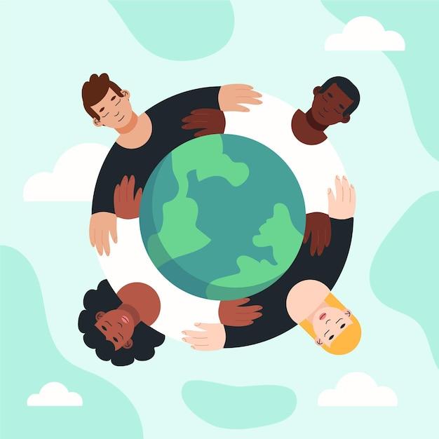 Detener el concepto de racismo vector gratuito