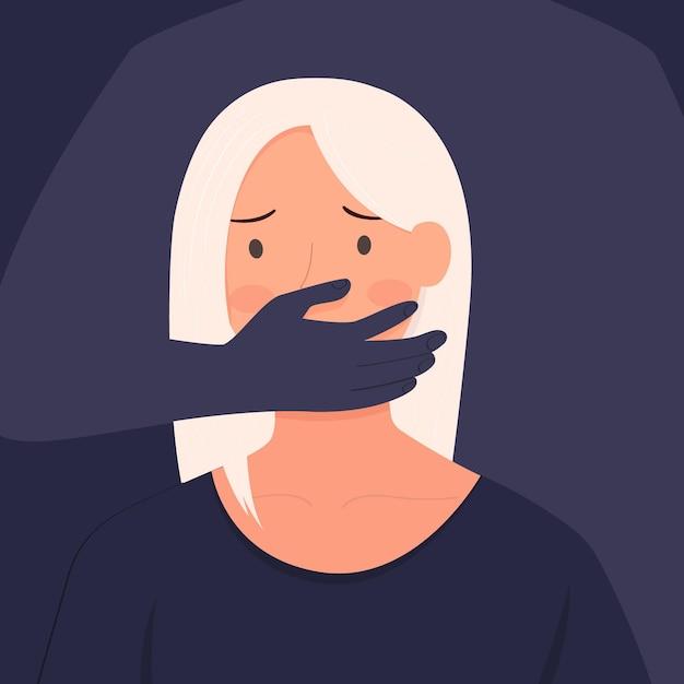 Detener la ilustración de violencia de género vector gratuito
