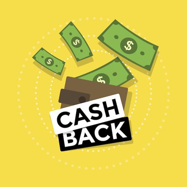 Devolución de efectivo o reembolso de dinero. Vector Premium