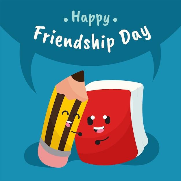 Día De La Amistad Con Dibujos Animados Lindo Inmóvil Descargar
