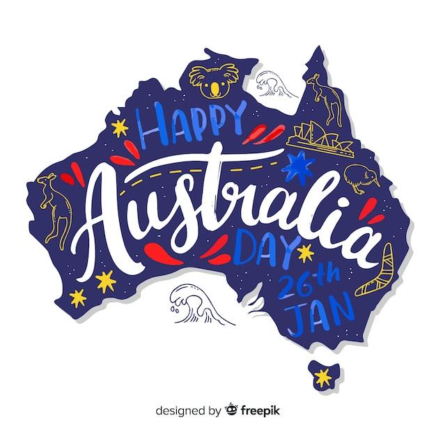 Día de australia vector gratuito