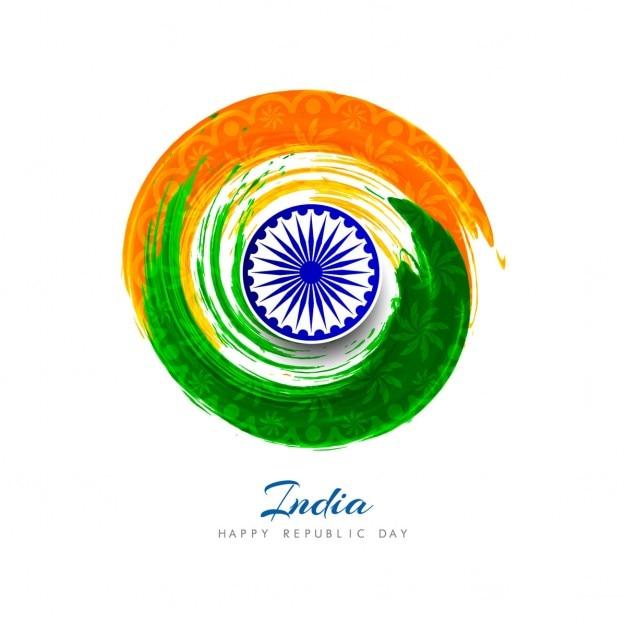 Día de la república de la india, acuarelas circulares | Descargar ...