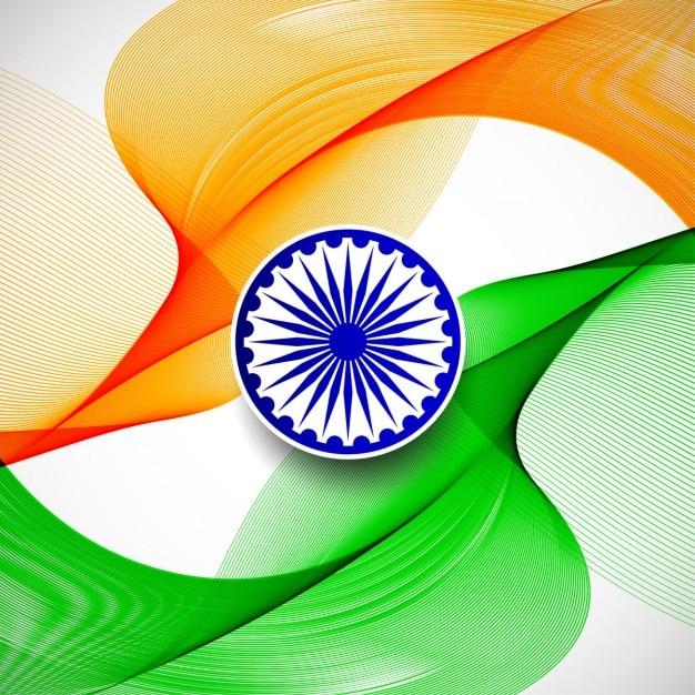 Día de la república de la india, fondo abstracto con los colores de ...
