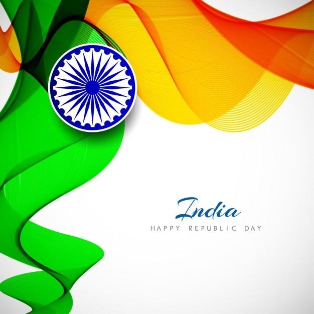 Día de la república de la india, fondo ondulado abstracto ...