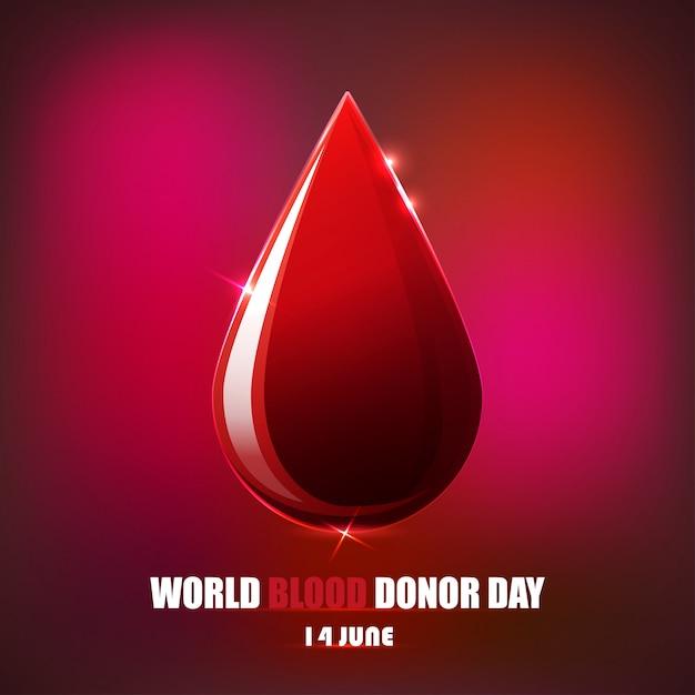 Dia del donante de sangre Vector Premium