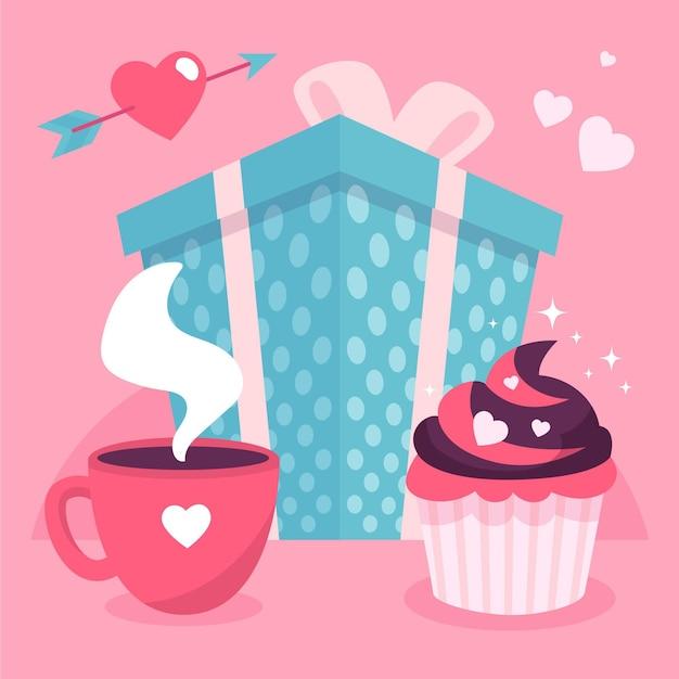 El día del evento de amor y amistad. vector gratuito