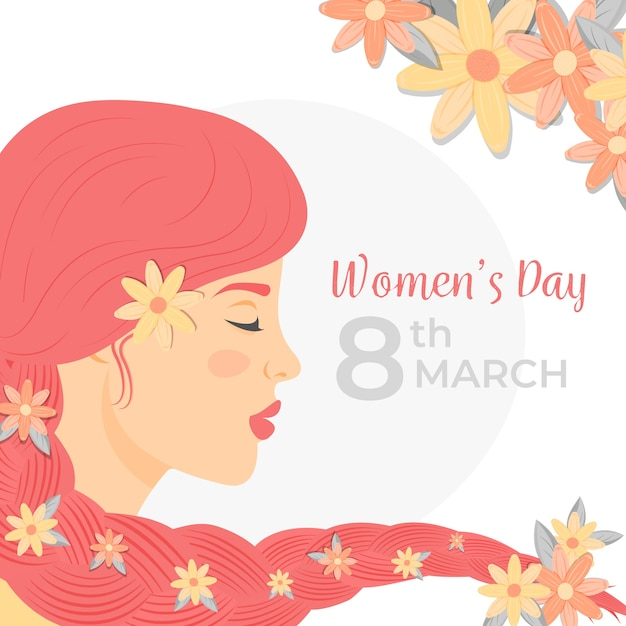 Día floral colorido de las mujeres vector gratuito