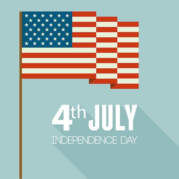 Día de la independencia americana. diseño plano Vector Premium