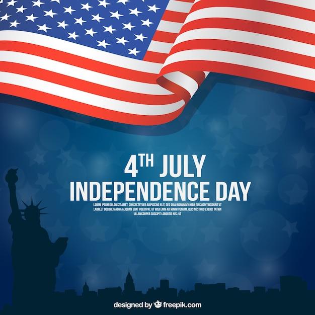 Día de la independencia americana con diseño plano vector gratuito