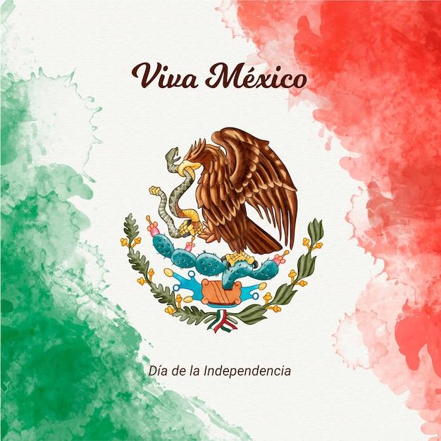 Dia de la independencia de mexico vector gratuito