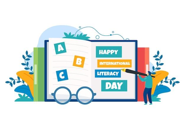 Día internacional de alfabetización plana vector gratuito