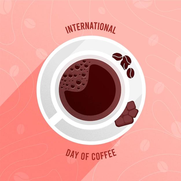 Día internacional del café ilustrado. vector gratuito