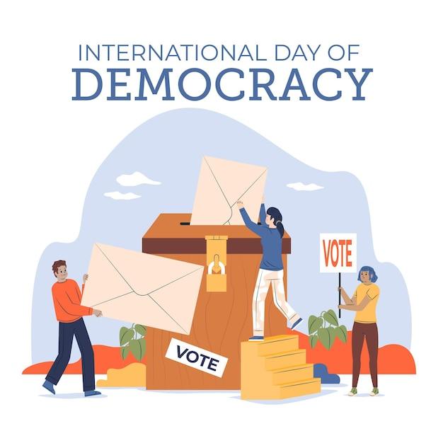 Dia internacional de la democracia vector gratuito