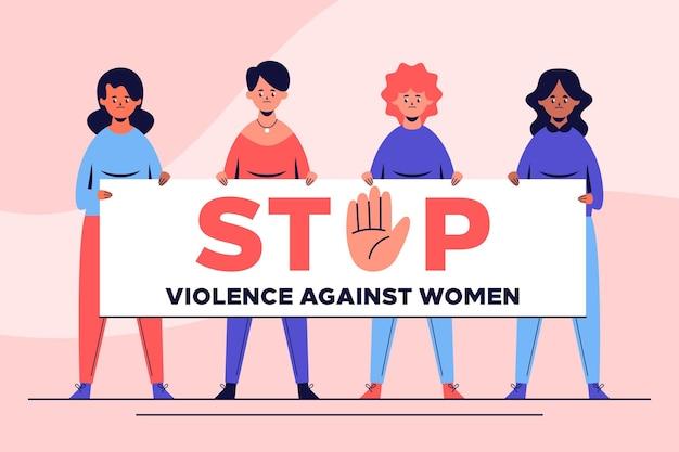Día internacional para la eliminación de la violencia contra la mujer vector gratuito