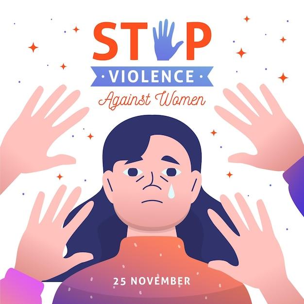 Día Internacional Para La Eliminación De La Violencia Contra La Mujer Vector Gratis