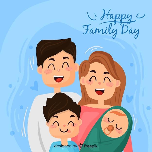 Día internacional de la familia vector gratuito