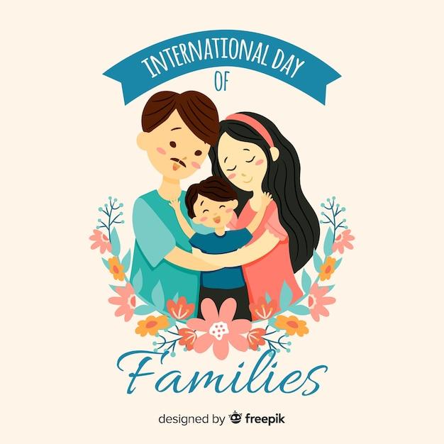 Día internacional de las familias vector gratuito