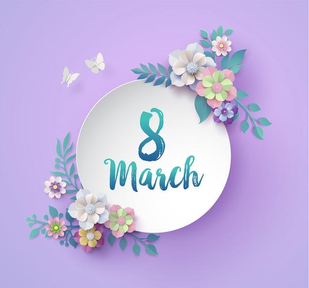 Día internacional de la mujer Vector Premium