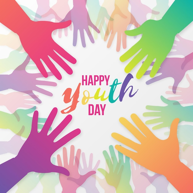 Día de la juventud de siluetas vector gratuito