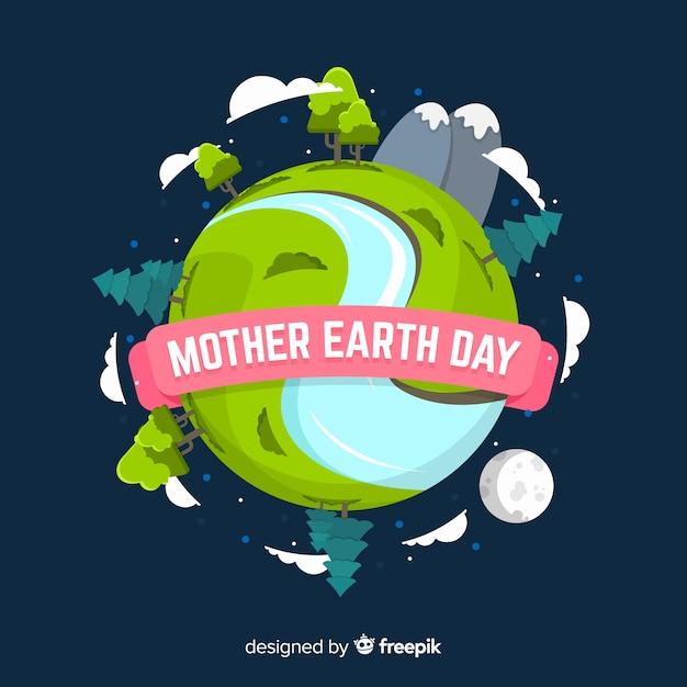 Día de la madre tierra vector gratuito