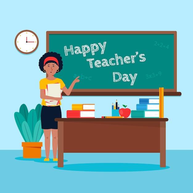 Día del maestro Vector Premium