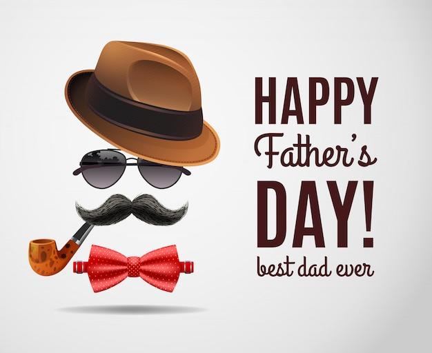 Día masculino del papá vector gratuito