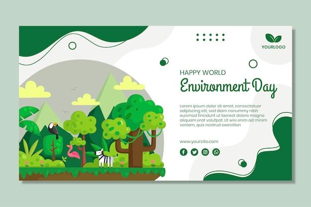 Día del medio ambiente vector gratuito
