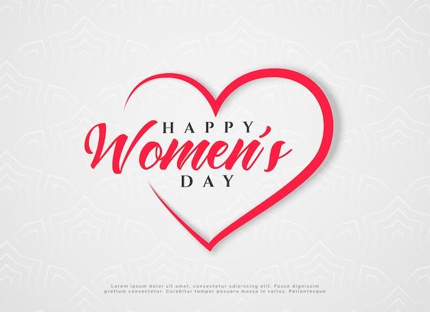 Día de la mujer feliz saludo de corazones vector gratuito