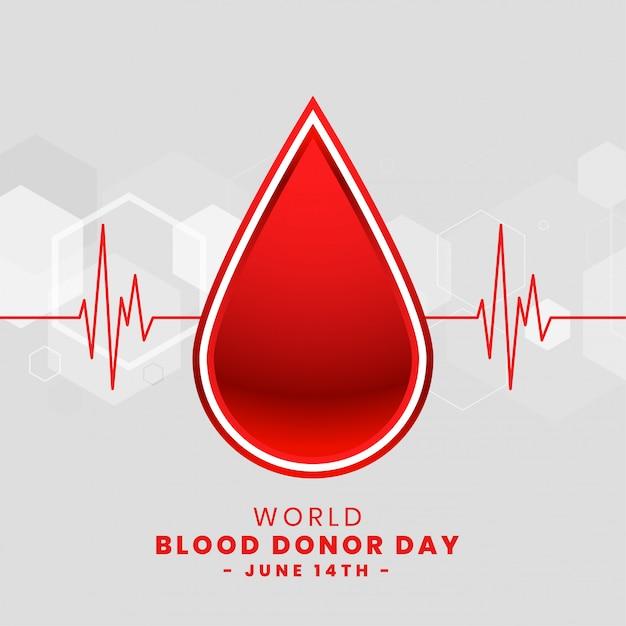 Dia mundial del donante de sangre vector gratuito