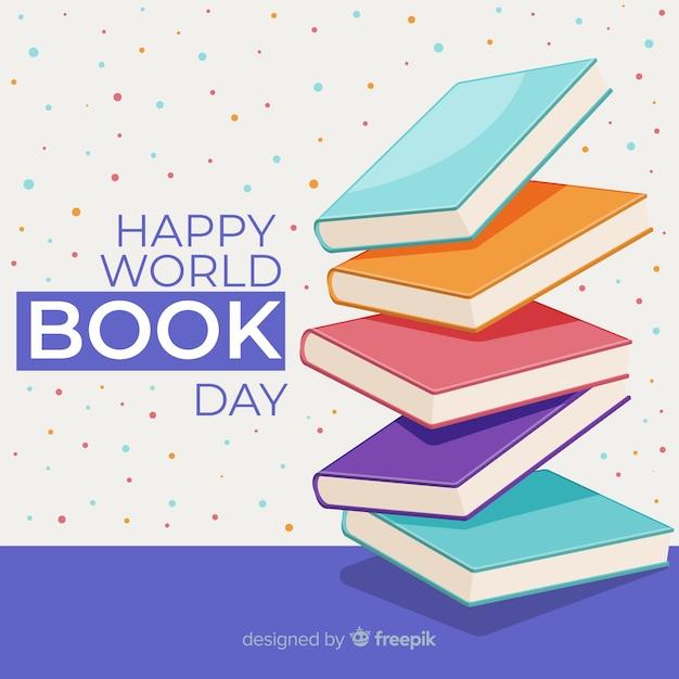 Día mundial del libro vector gratuito