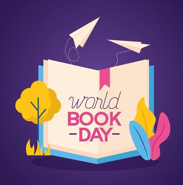 Dia mundial del libro vector gratuito