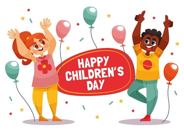 Día mundial del niño estilo dibujado a mano Vector Premium