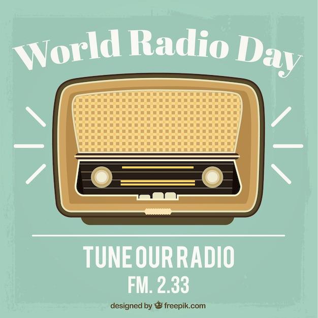 Día mundial de la radio Vector Premium