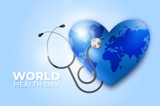Día mundial de la salud realista Vector Premium