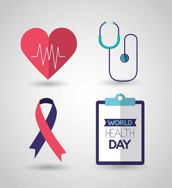 Día mundial de la salud vector gratuito