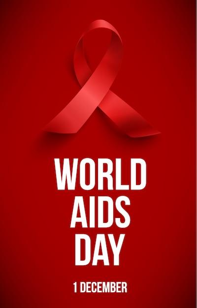 Día mundial del sida Vector Premium