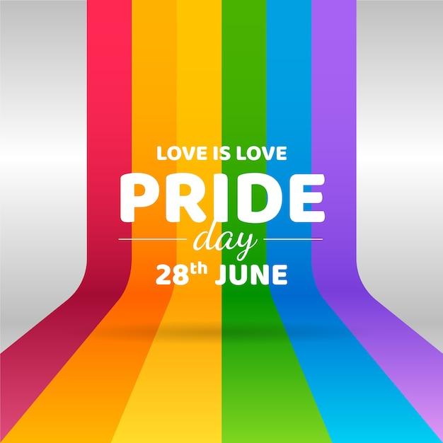 Día del orgullo con diseño de bandera Vector Premium